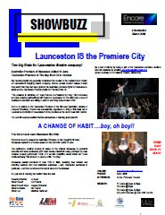 March 2009 Launceston IS the Premiere City